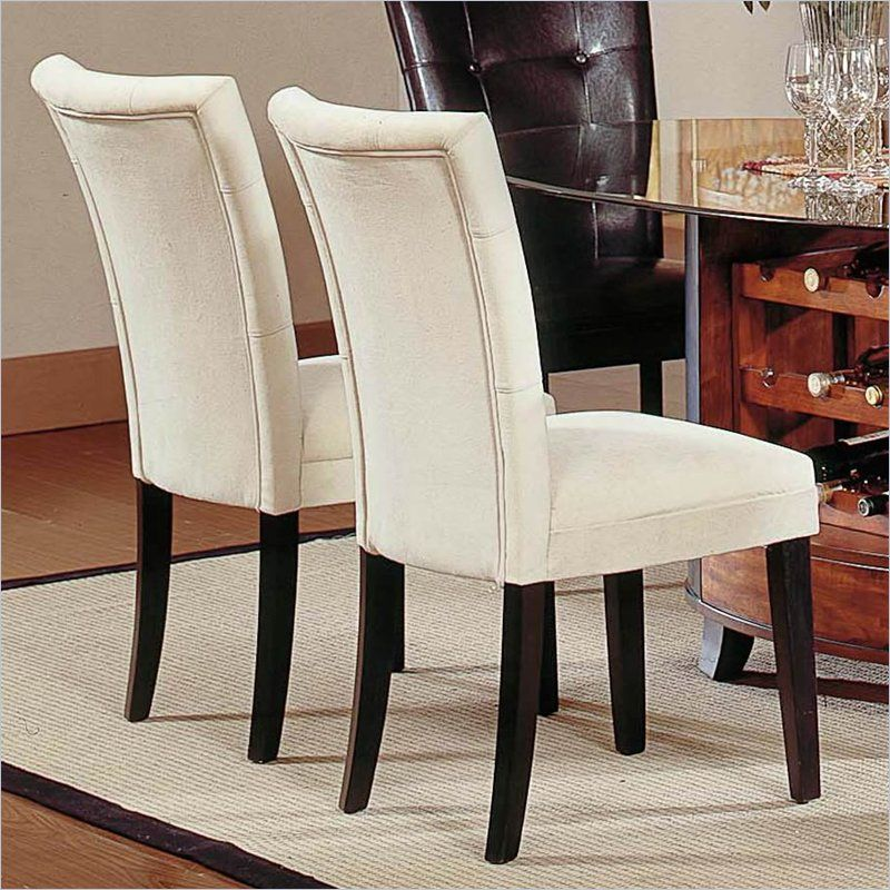 Steve Silver Matinee Fabric Dining Parson Chair In Beige