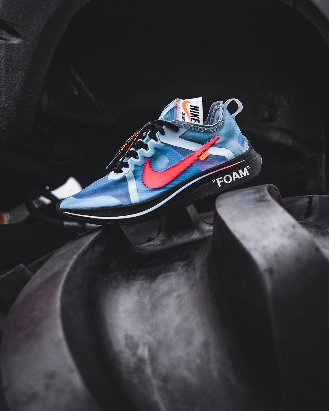 The Off White x Nike Zoom Fly SP Surfaces In A 'Blue