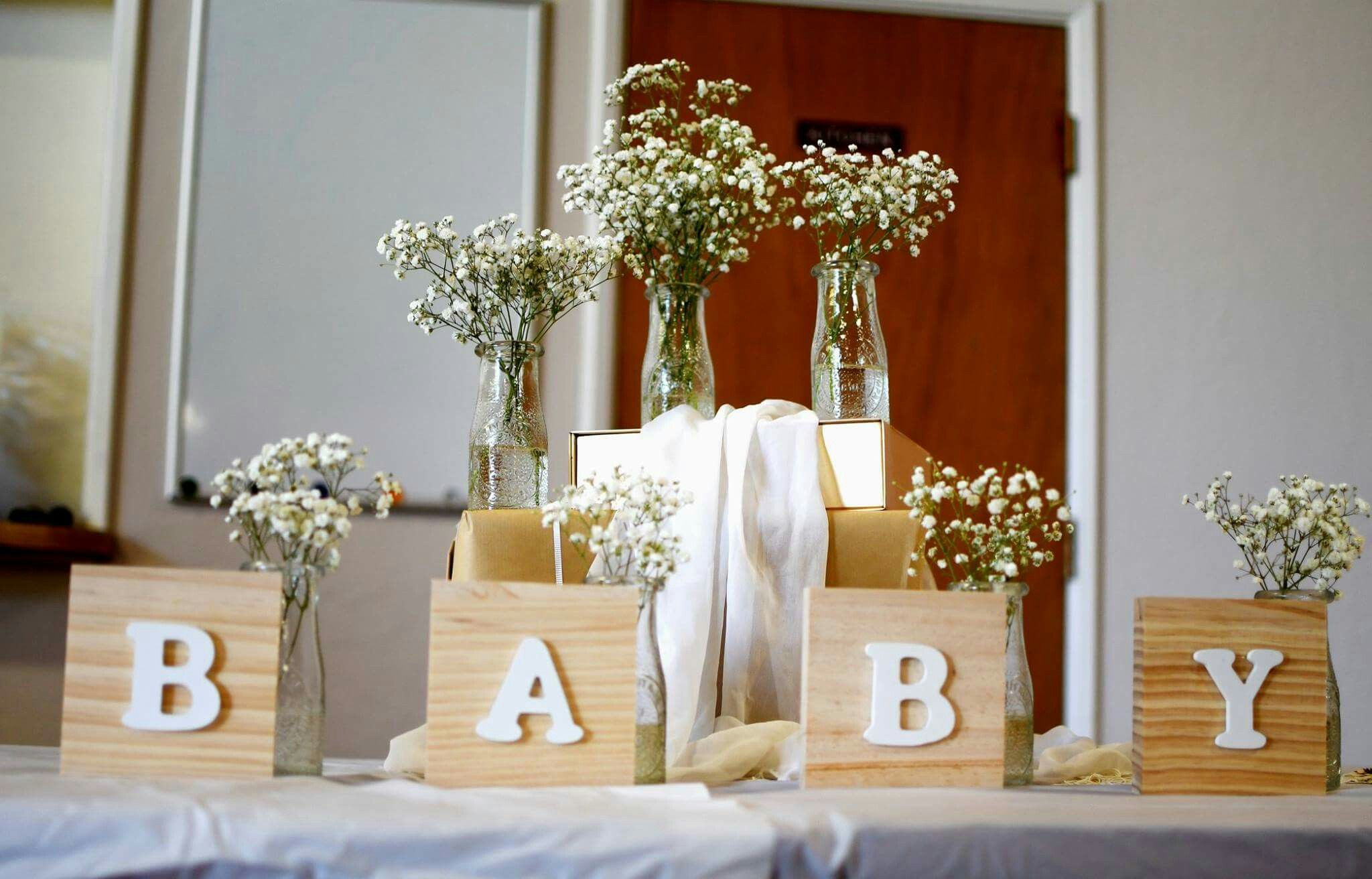 Rustic Neutral Color Baby Shower Decor Diy Gold Wood Baby Shower