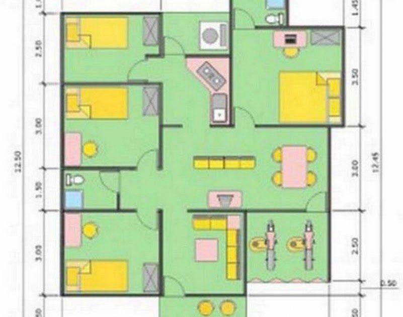 Denah Rumah Ukuran 10x12 M Menarik In 2020 Shed House Gambar Desain Rumah 10x12 Griya Rumah Gambar Denah Rumah Min Di 2020 Rumah Minimalis Denah Rumah Desain Rumah