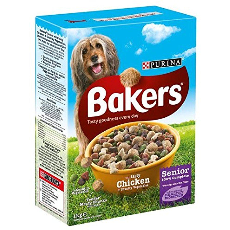 Bakers Senior Dog Chicken Veg Dry Food 1kg Pack Of 6 Do