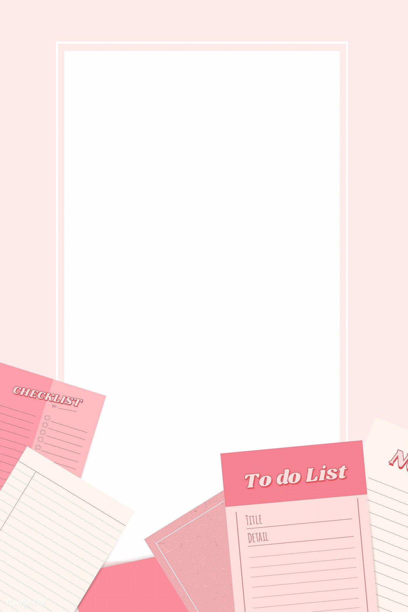 Download Premium Vector Of Pink Notepad Planner Set Vector 1209455 Planner Set Pink Notepad Planner Notepad