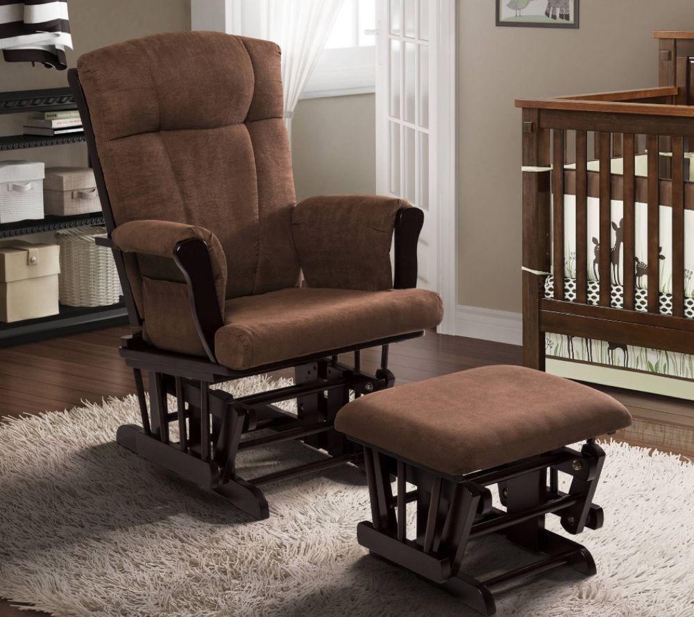 Details About Nursery Rocking Chair For Baby Relax Rocker Glider And Ottoman Set Nursing Mum