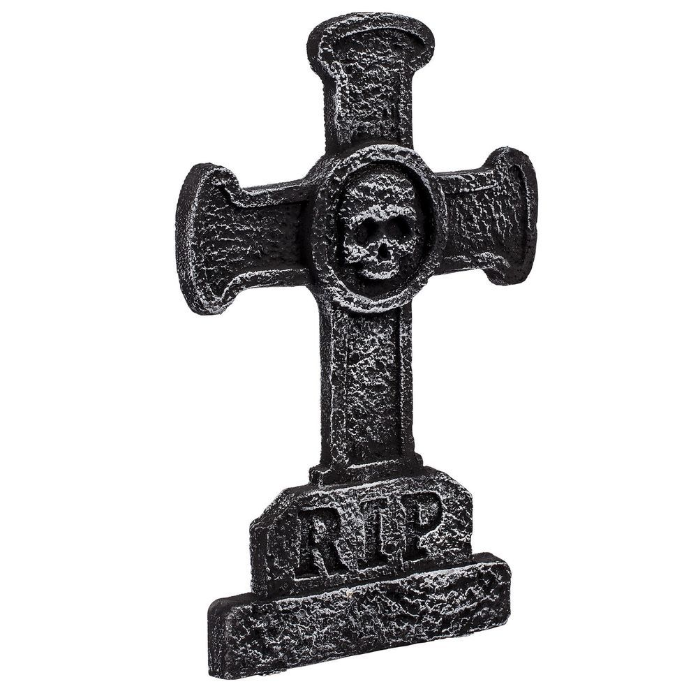 halloween rip cemetery foam tombstone cross party decoration   day