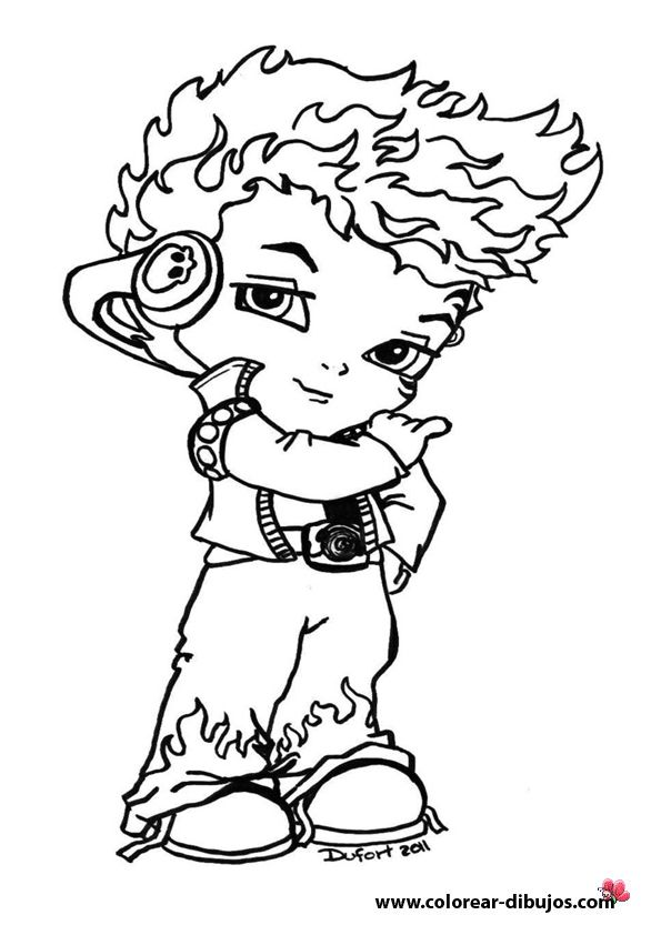 monster high holt hyde baby cool and cute chibi coloring page