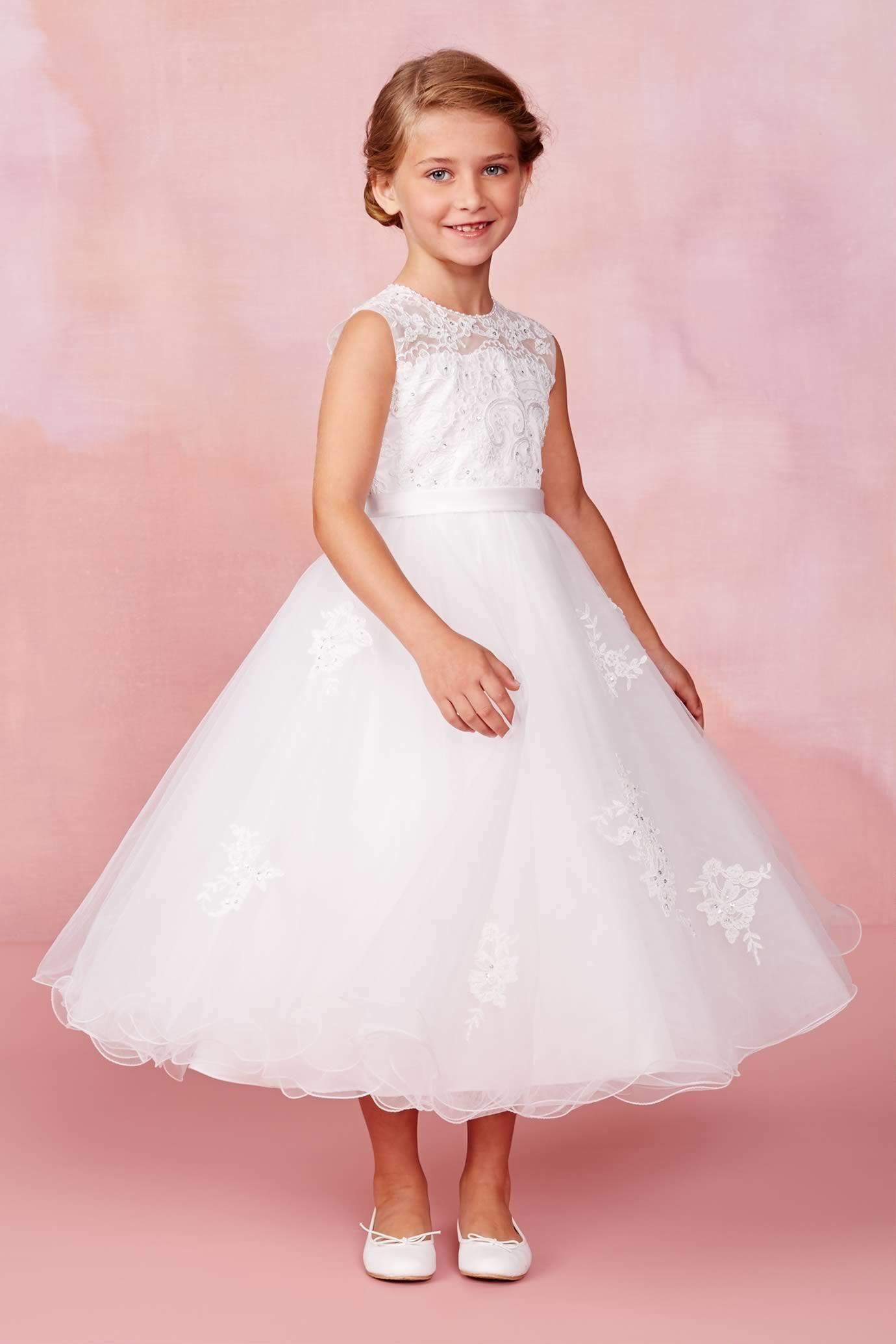 Girls Beaded Lace Dress Lace Dress Girls Fancy Dresses Shimmer Dress