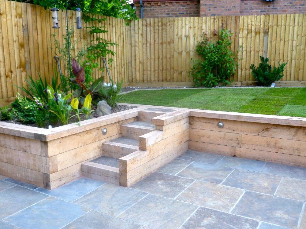 How To Build Garden Retaining Wall Sloped Garden Garden