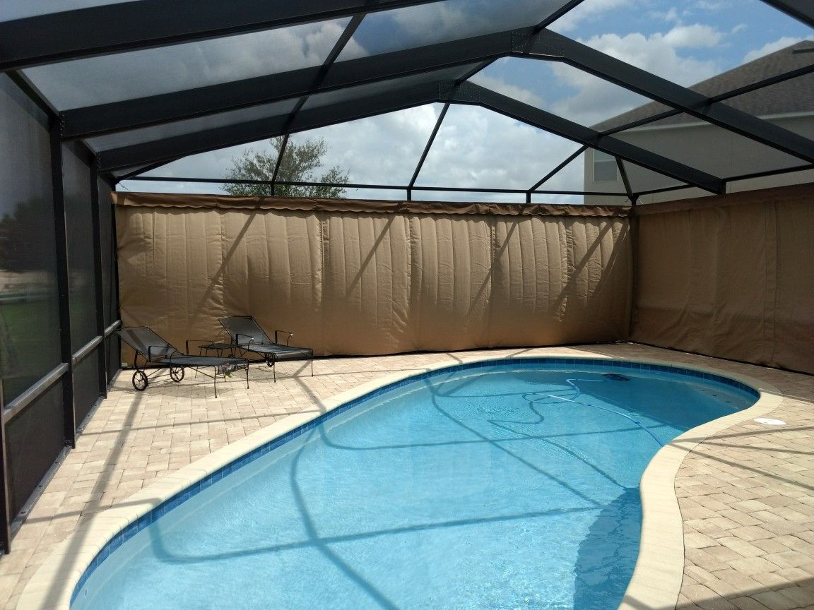 Outdoor Screen Enclosure Or Lanai Curtains The Best Outdoor Privacy Option Myprivacyondemand Www Lanaicurt Outdoor Privacy Outdoor Screens Screen Enclosures