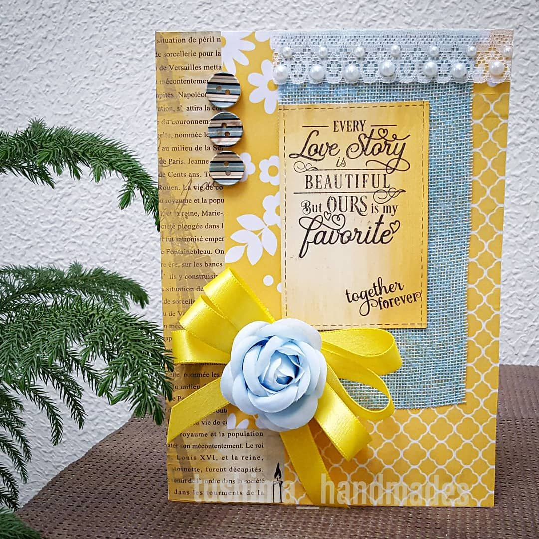 How Lovely Yellow Card Is It S Bold Look At Me Type Of Card Meant For That Person In Your Life Who Seeks All Your At Cards Handmade Pretty Cards Fabric Roses