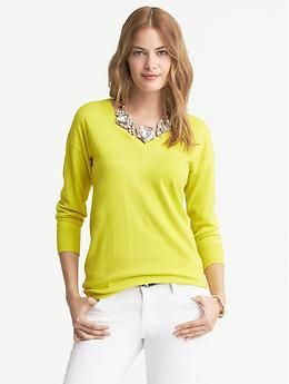 Draped V Neck Pullover | Banana Republic | Sweaters, Vneck