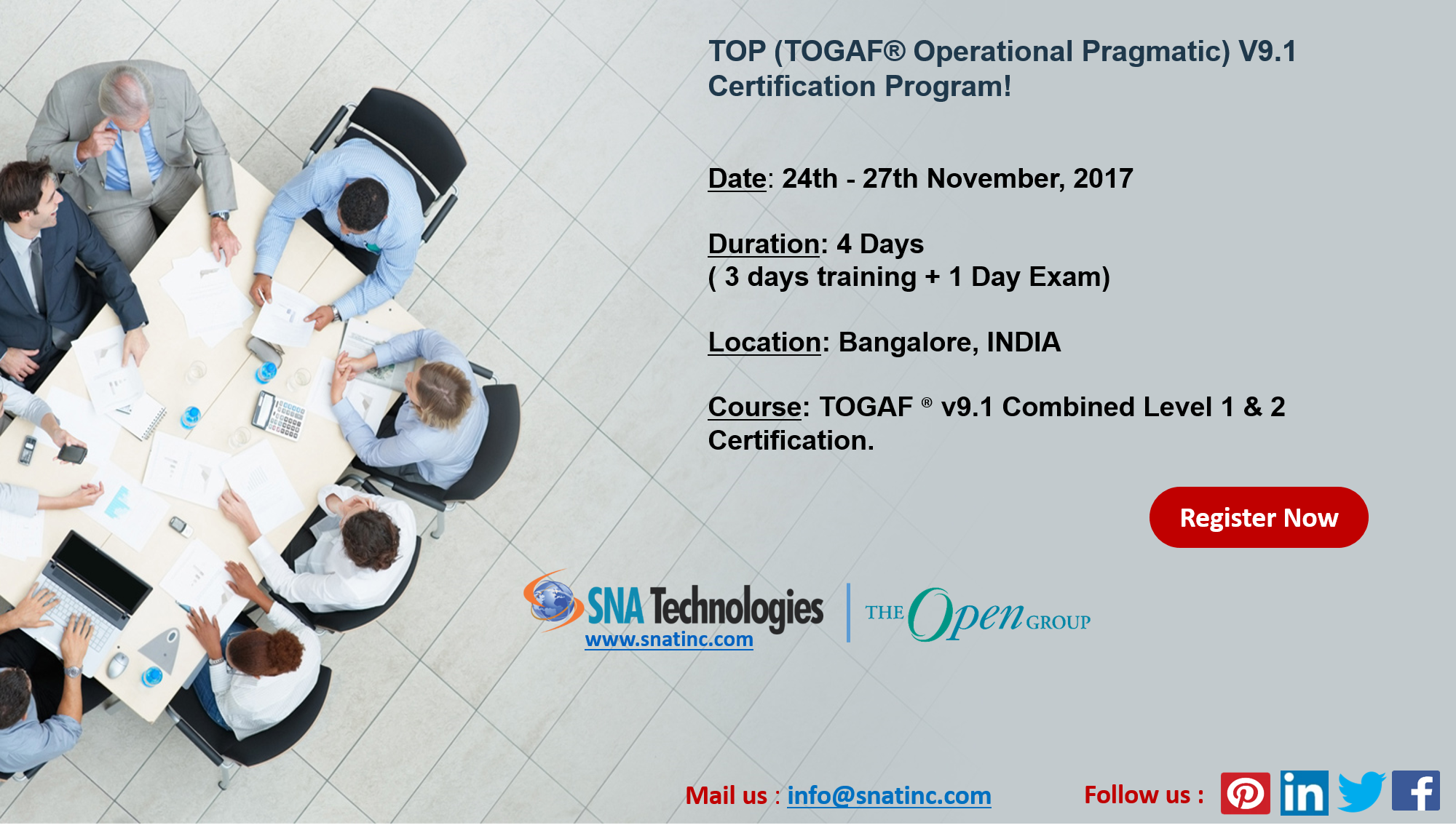 Togaf V91 Certification Program In Bangalore India For More