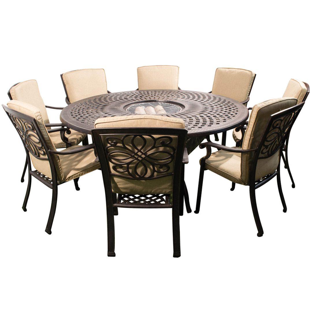 Apotelesma Eikonas Gia Garden Tables With Ice Bucket Middle Round Outdoor Dining Table Metal Patio Furniture Aluminium Outdoor Furniture