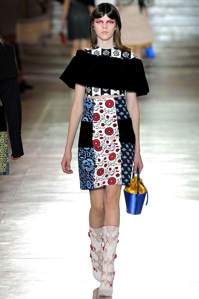 c4f56e114f8 9. Miu Miu Spring 2012 - 60s inspire silhouette, styling and print ...