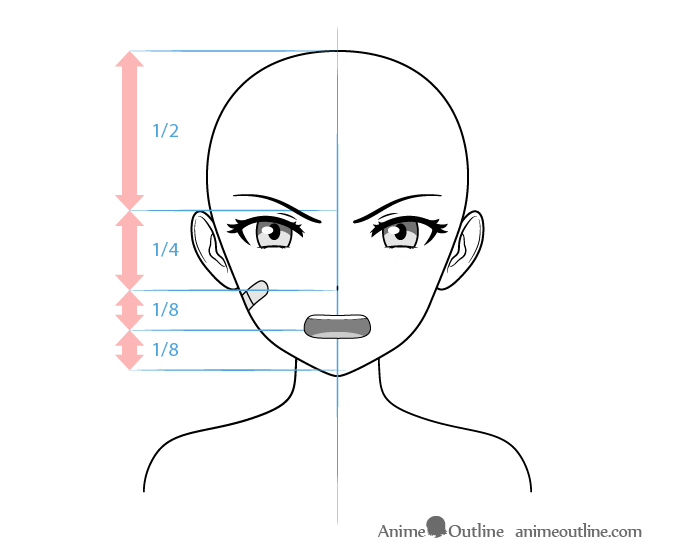 Anime Tough Female Character Angry Face Drawing Anime Eye Drawing Anime Character Drawing Anime Head Shapes