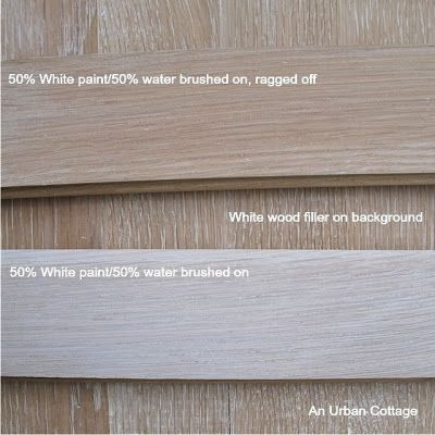 An Urban Cottage Testing Floor Finishes White Wood Stain Grey