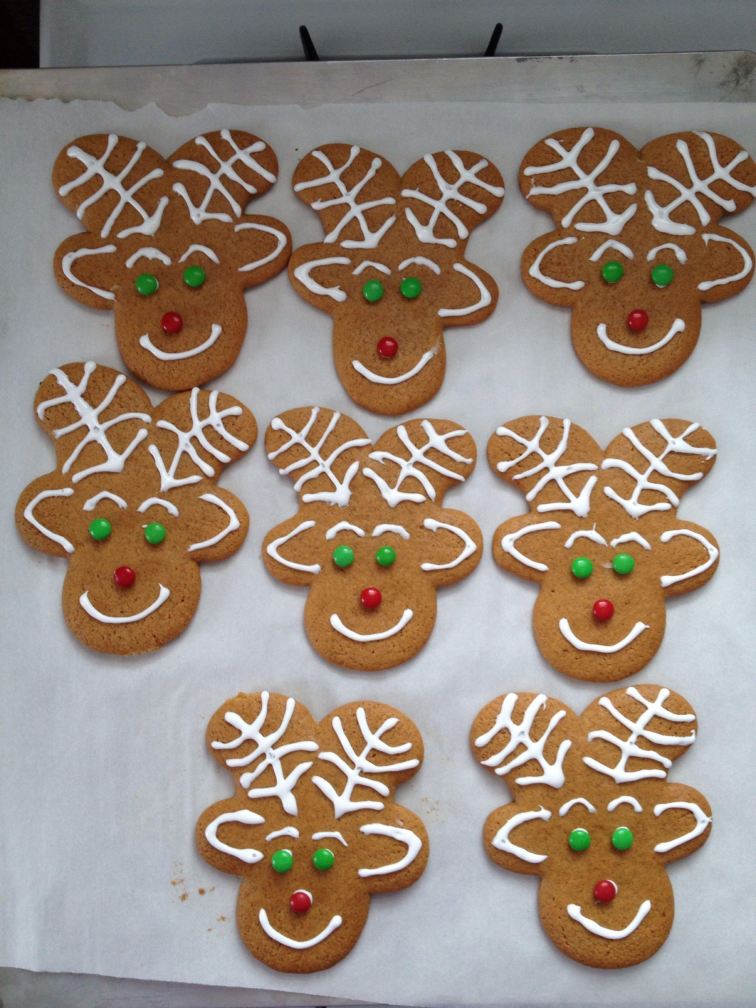 First Time Making Gingerbread Reindeer Cookies Upside Down