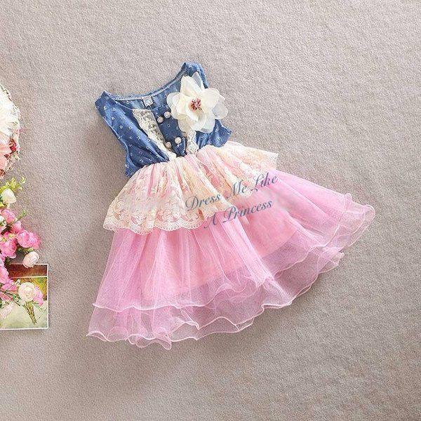 toddler girl fashion summer, summer lace toddler girl dress, denim lace summer girl dress