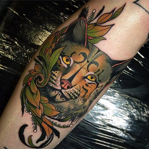 lynx tattoos artist unknown ink tattoo pinterest old school old school tattoos and lynx. Black Bedroom Furniture Sets. Home Design Ideas