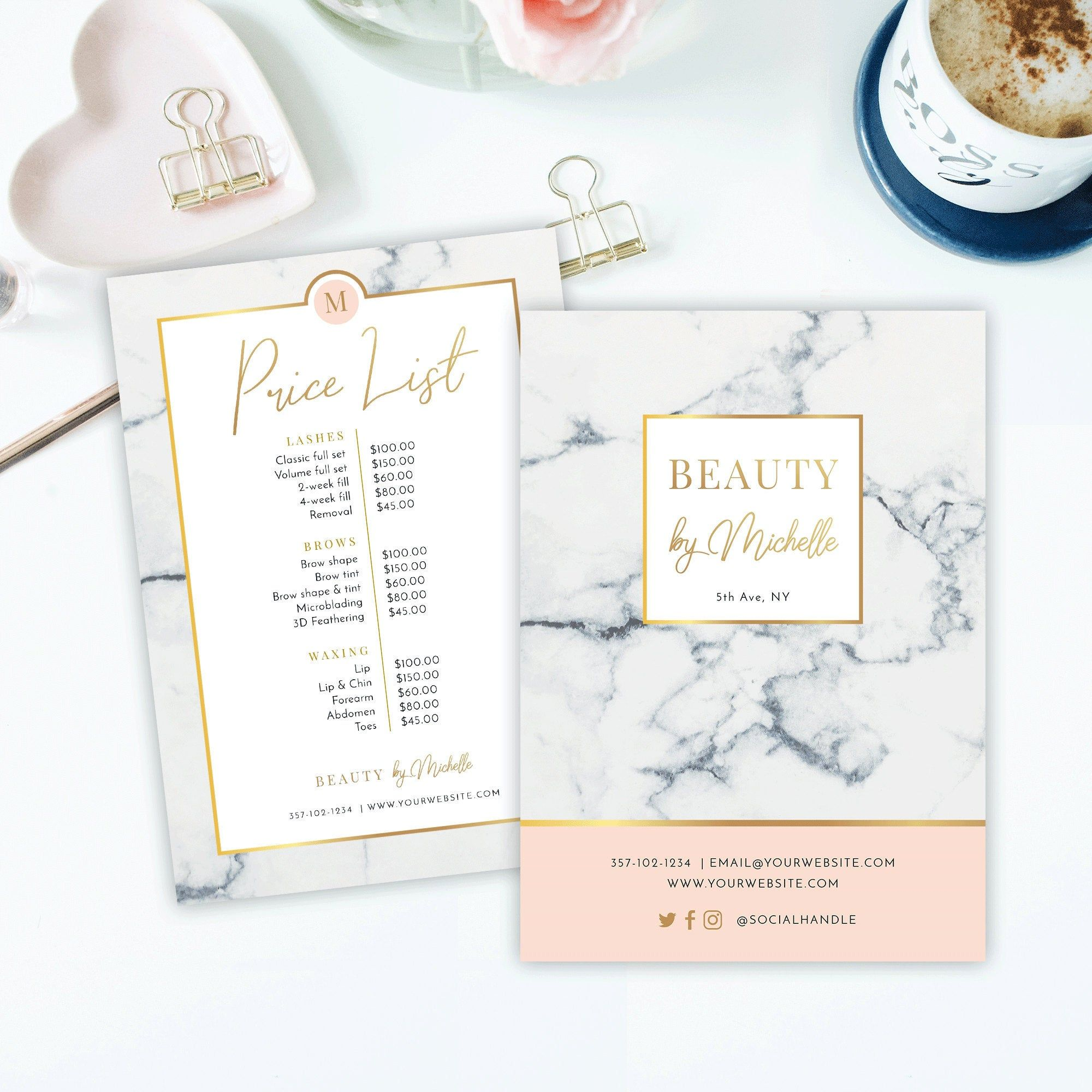 Marble Gold Price List Template Menu Printable Price List Etsy In 2021 Salon Price List Price List Template Photography Invoice Template