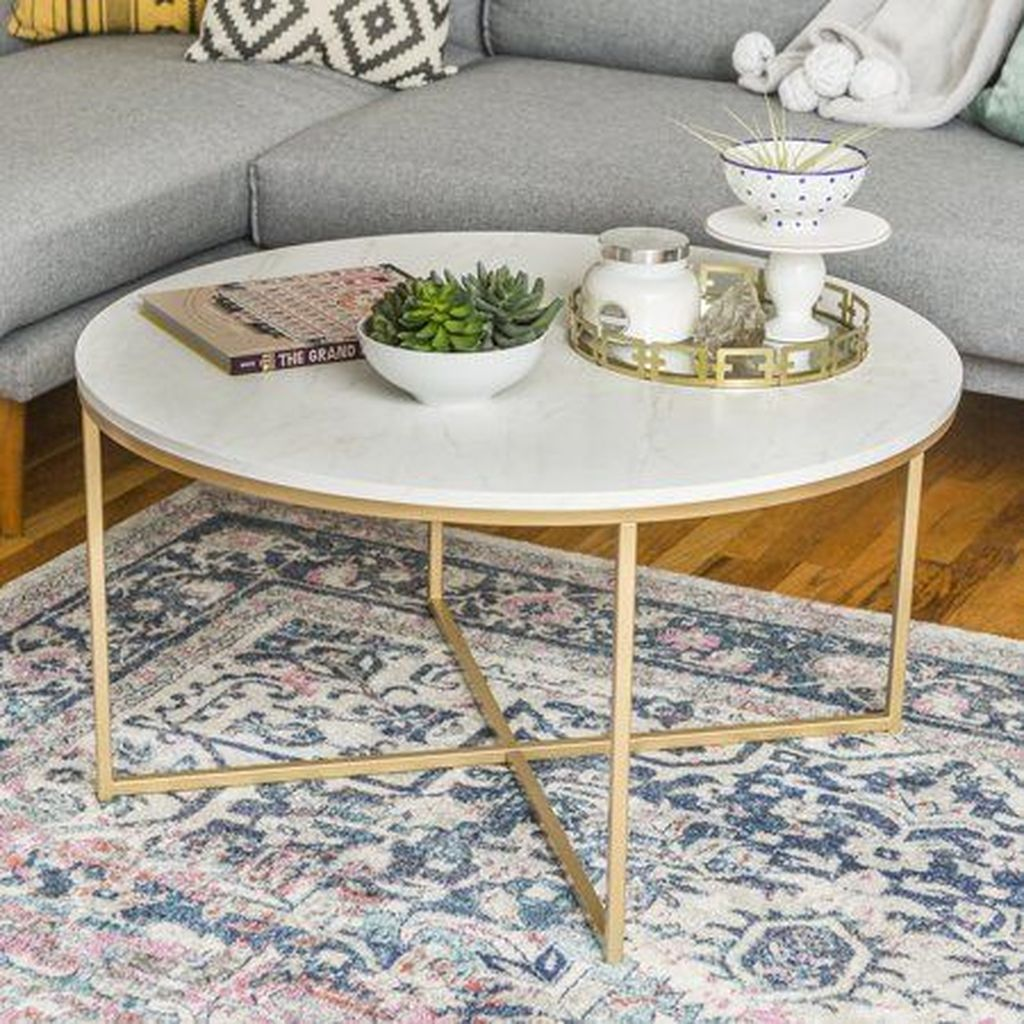 30 Lovely White Coffe Table Ideas To Get A Warm Atmosphere Http Quentinedecor Info 30 Lovely Round Coffee Table Modern Round Gold Coffee Table Coffee Table [ 1024 x 1024 Pixel ]