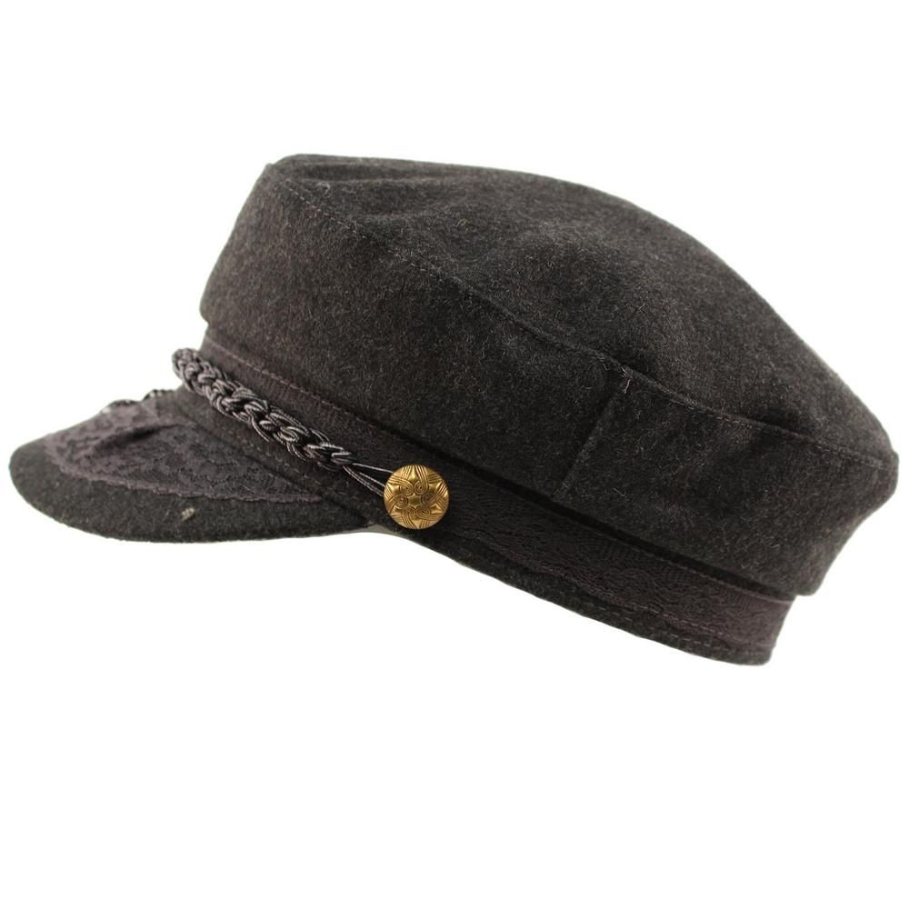 timeless design c87e3 2a00e Men s Greek Fisherman Sailor Fiddler Winter Wool Driver Hat Flat Cap  Charcoal L  fashion  clothing  shoes  accessories  womensaccessories  hats  (ebay link)