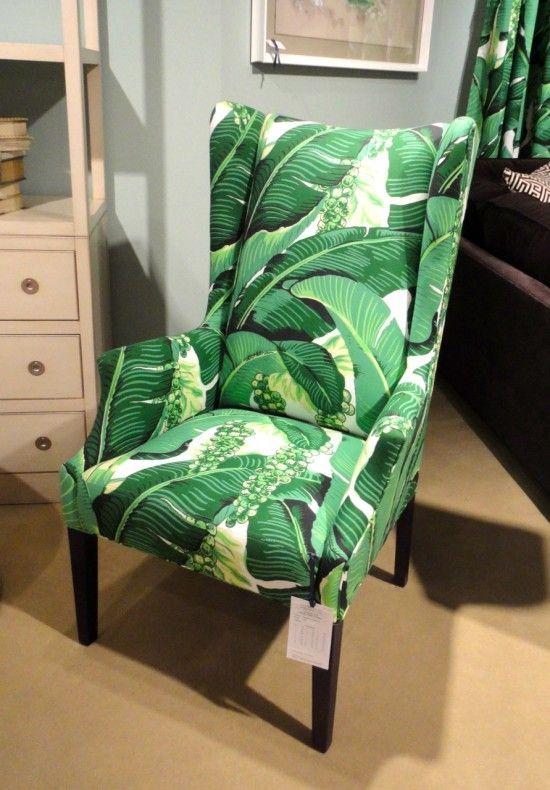 C.R. Laine Banana Leaf Print Chair  Just Like The Wallpaper
