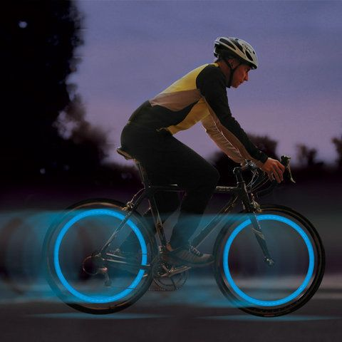 2 Blue Led Bike Spoke Lights Led Bicycle Wheel Lights Roll With