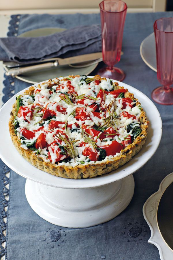Photo of Basic diet: tomato and spinach tart with goat cheese