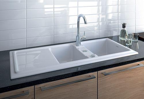 Built In Ceramic Kitchen Sink By Duravit New Cassia Ceramic Kitchen Sinks Kitchen Sink Drainboard Sink