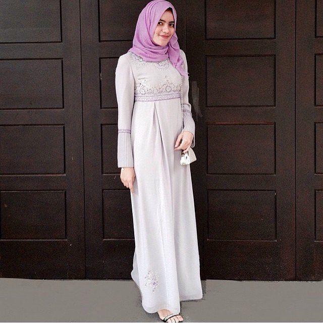 Outfit Kondangan Hijab Simple