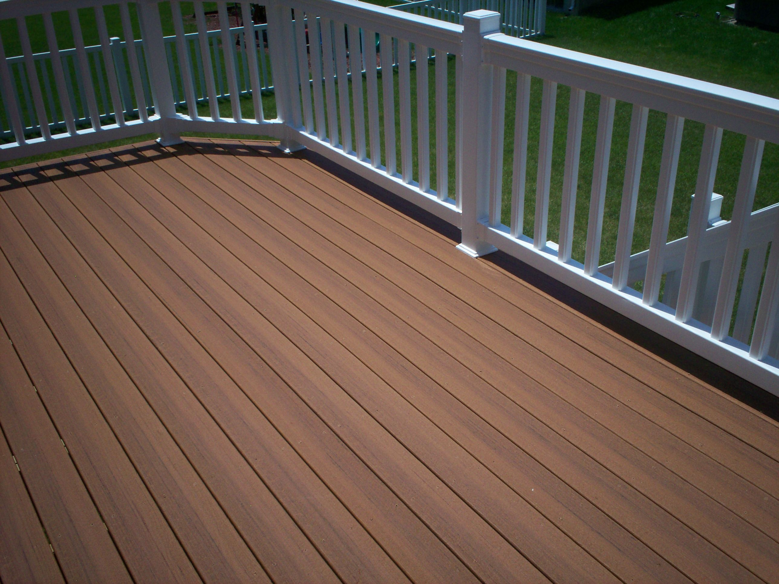 Stylish trex decking color combinations with newtechwood for White composite decking