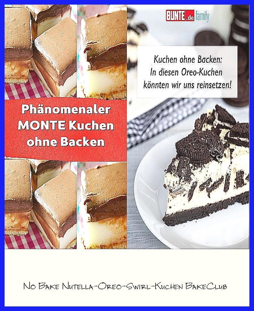 Photo of No Bake Nutella-Oreo-Swirl-Kuchen  BakeClub