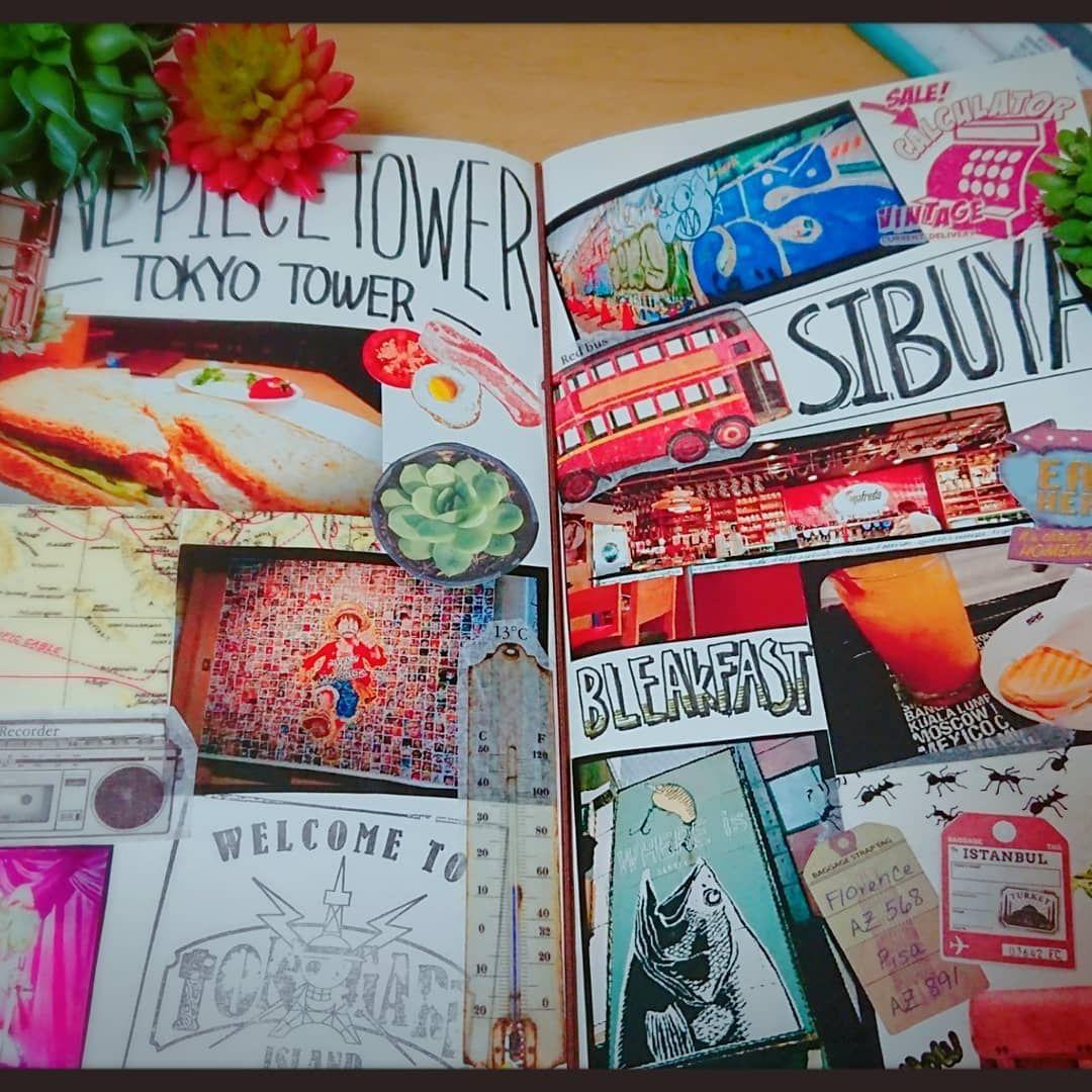 しゅも助さんはinstagramを利用しています トラベラーズノート 手帳タイム notebook travelersnotebook 手帳の中身 渋谷 一人旅 journal maskingtape 初めての一人旅最高に楽しい 次は美味し tokyo tower book cover tokyo