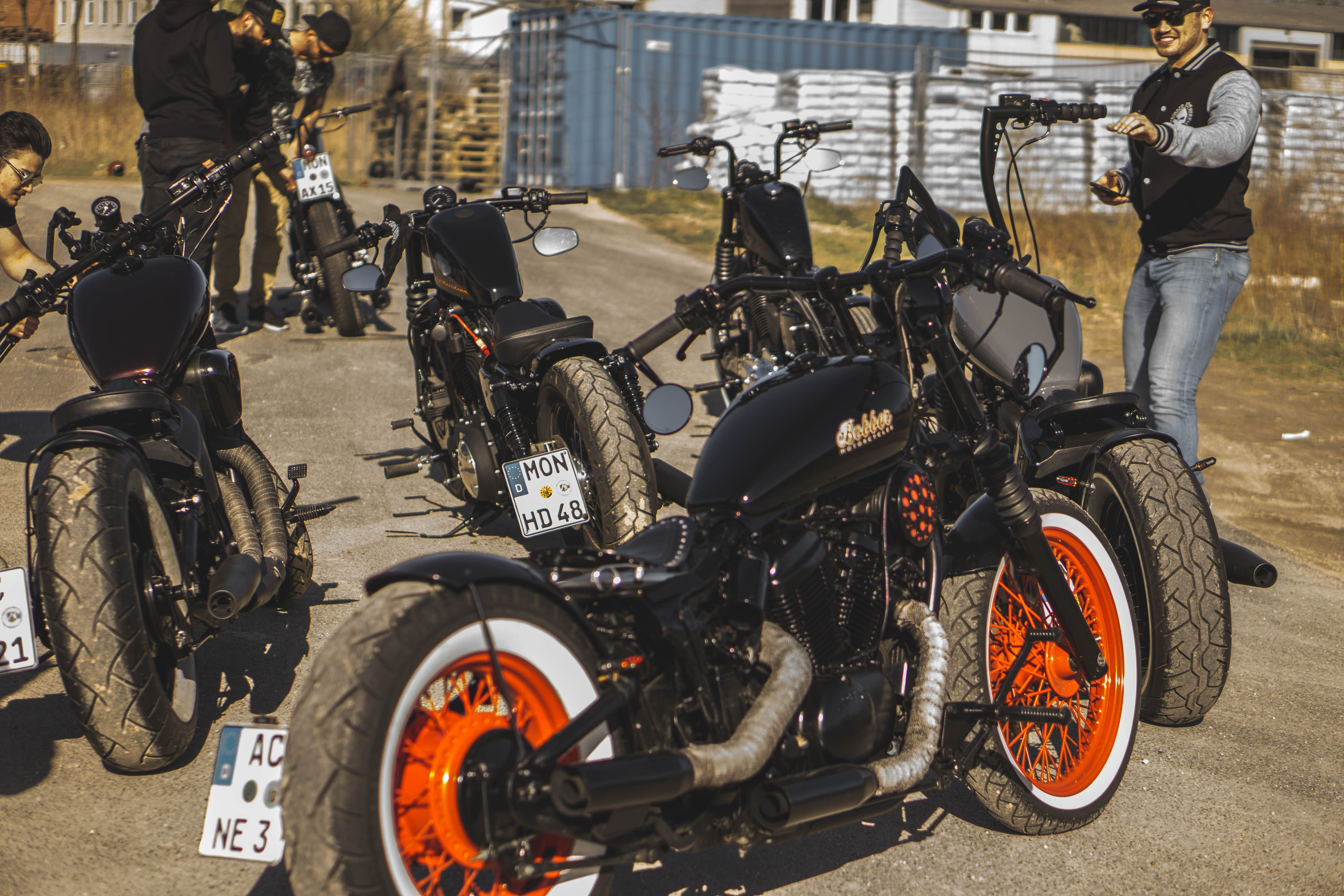 Bobberbrothers Squad On Tour Custom Bobber Motorcycle Inspiration Harley Customs Diy Cafe Racer Honda Prod Custom Bobber Cafe Racer Honda Bobber Motorcycle