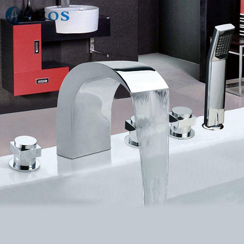 Bathtub Shower Faucets Chrome Polish Bathroom Suana 5pc Sets
