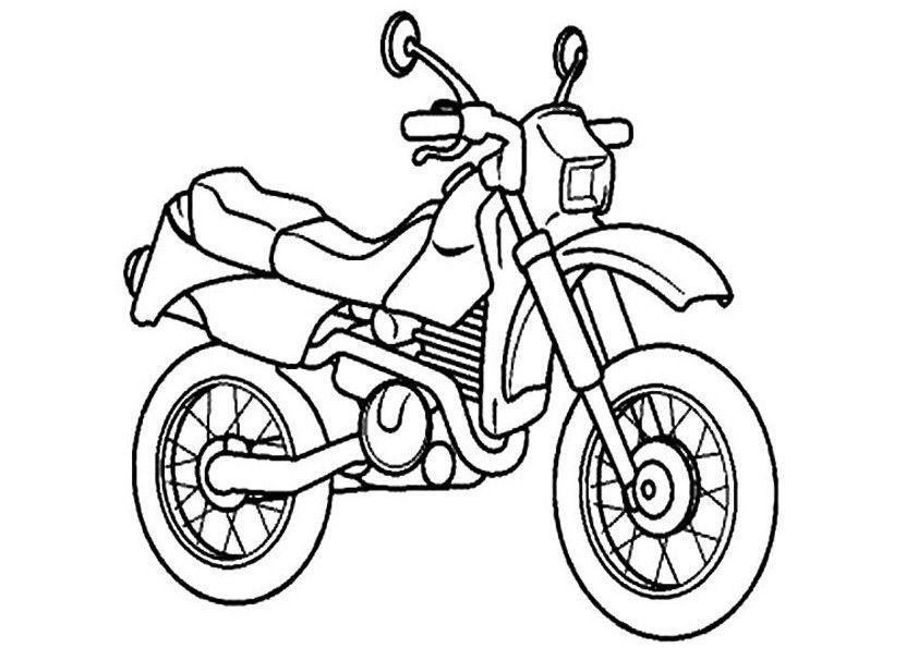 Motorrad 16   Ausmalbilder, Malvorlagen, Ausmalen