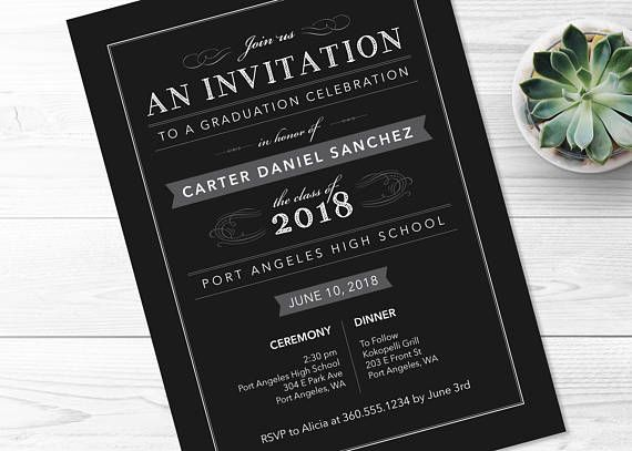 printable graduation invitation.