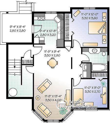 Détail du plan de Maison multi logements W3029 Plans de maisons