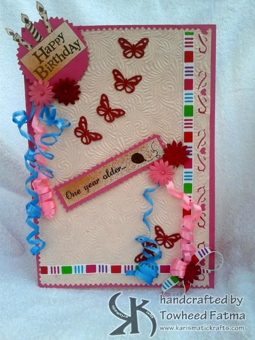 Handmade birthday card name myrtle crafts by samreen siddiqui craft handmade birthday card bookmarktalkfo Gallery