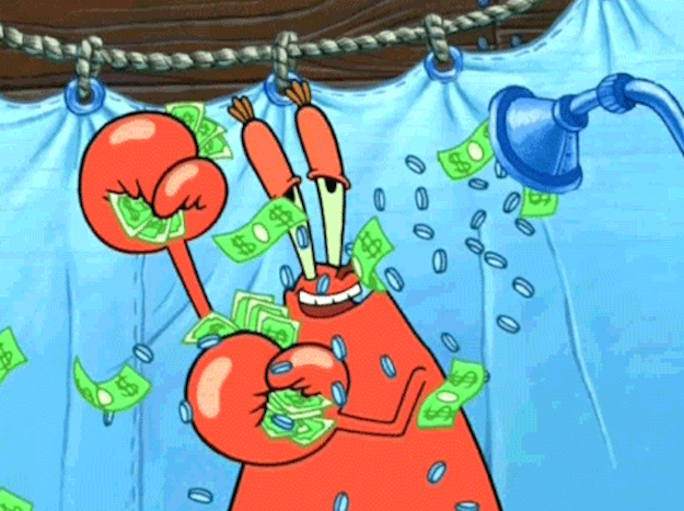 Money Can Buy Happiness Mr Krabs Spongebob Funny Pictures