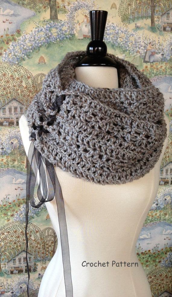 Trinity Scarf Crochet Pattern DIY Scarf or Oversized Chunky Cowl ...