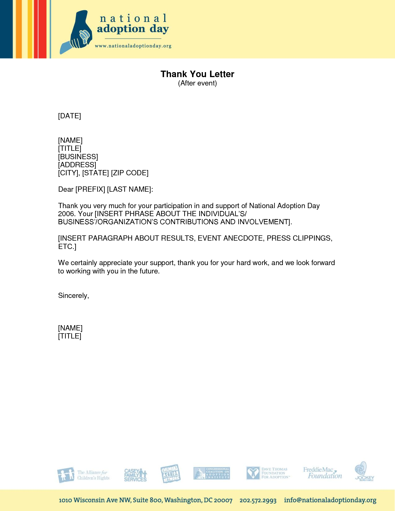 Participation template thank you letter sample client for home participation template thank you letter sample client for aljukfo Choice Image