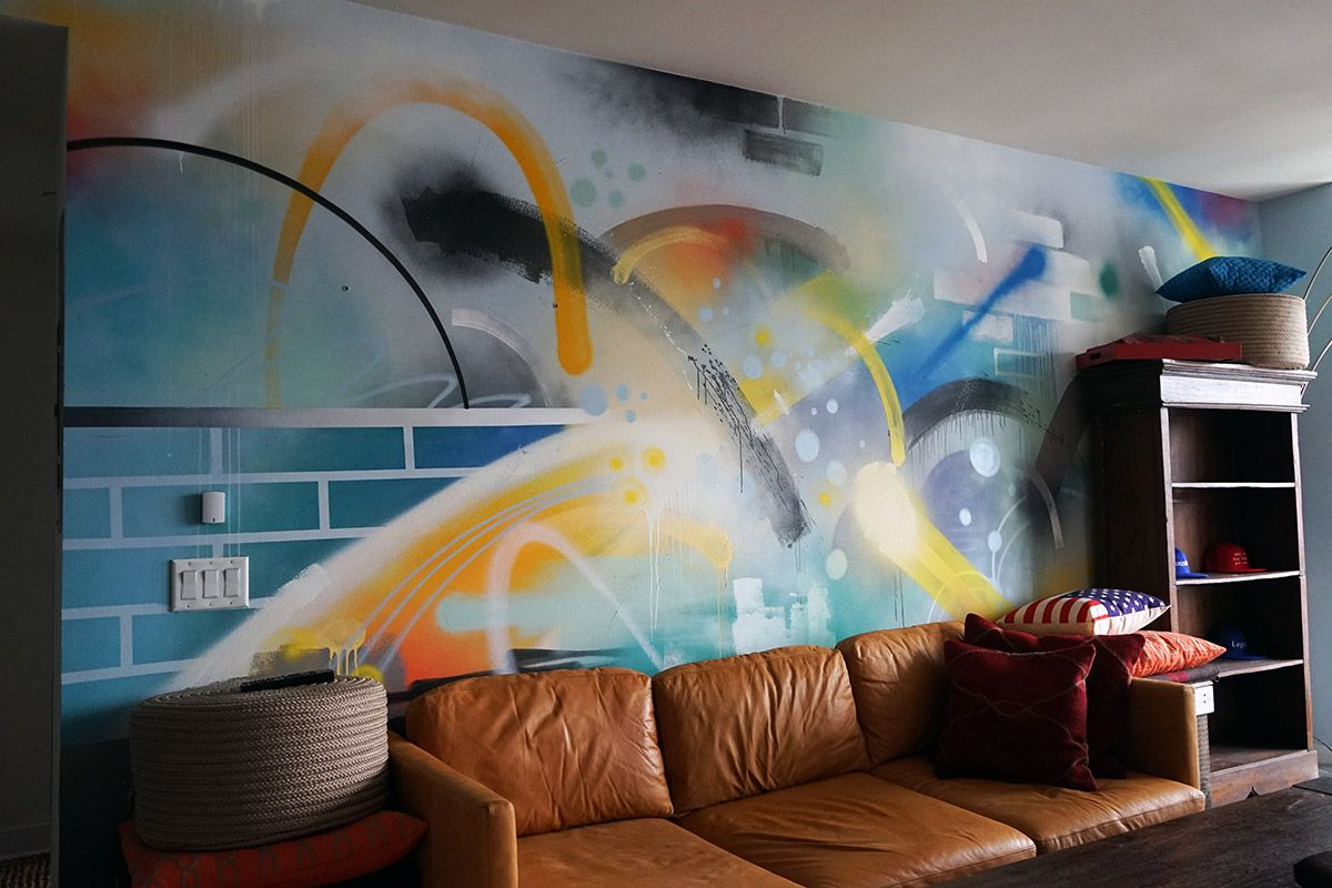 Abstract Living Room Art Timeless Graffiti Street Art Murals For Residential Spaces In The Home Wall Street Art Graffiti Wall Art Custom Wall Murals