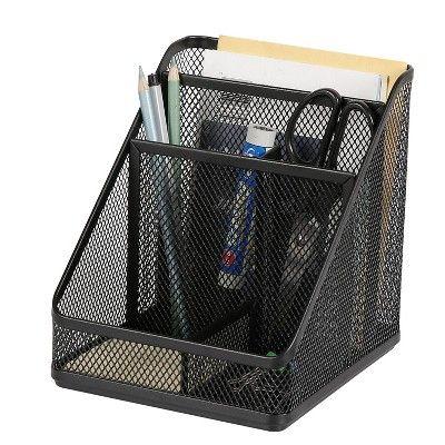 Mesh Medium Desktop Organizer Black Made By Design Desktop Organization Desk Organization Made By Design