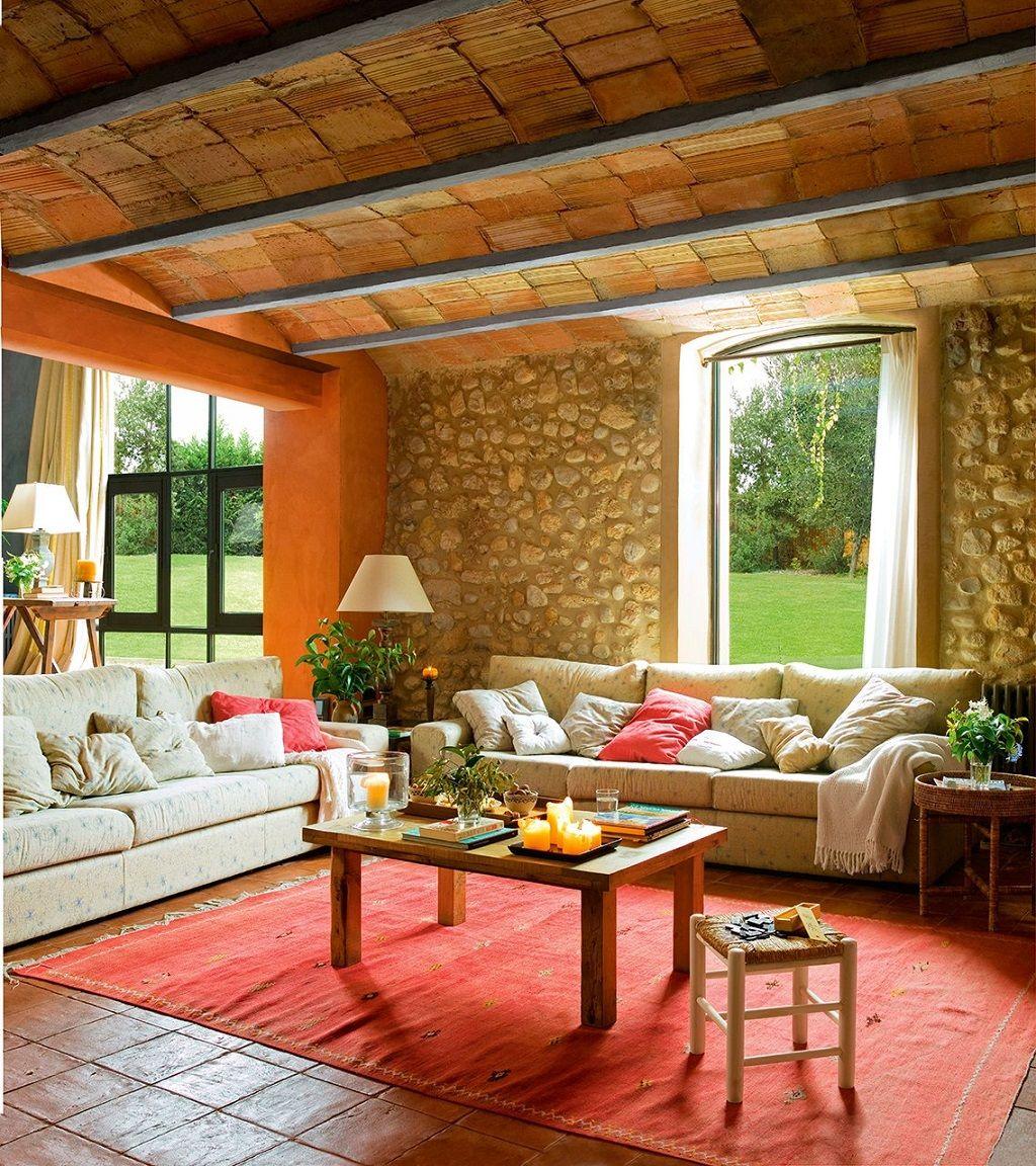 Salon Rustico40 Colores Pinterest Casas Casa Mexicana Y De  # Muebles Sisal Queretaro