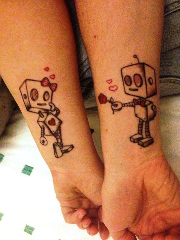 25 id es de petits tatouages pour les couples club. Black Bedroom Furniture Sets. Home Design Ideas