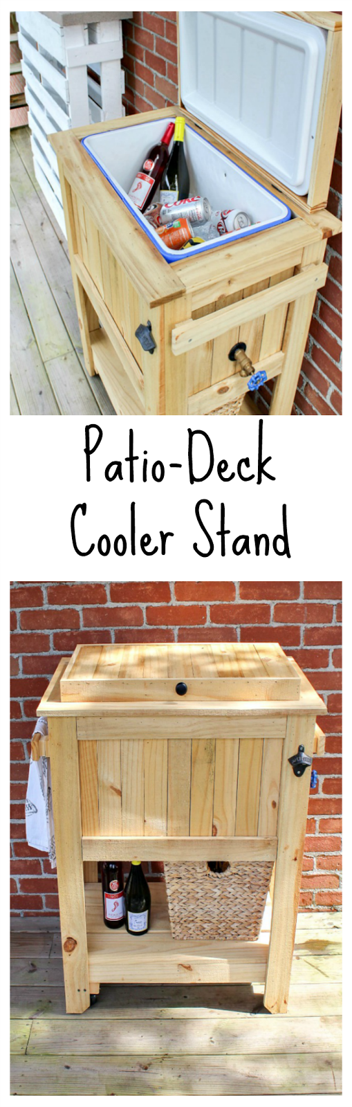 Patio Deck Cooler Stand Deck Cooler Cooler Stand Patio