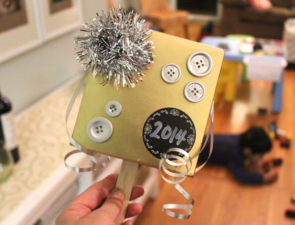 DIY New Years Eve Noise Makers Simple Stylings Fun