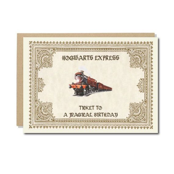 Harry potter birthday card geeky baby gifts pinterest harry harry potter birthday card geek birthday cards hogwarts express geeky wishes size 300 gsm bookmarktalkfo Images
