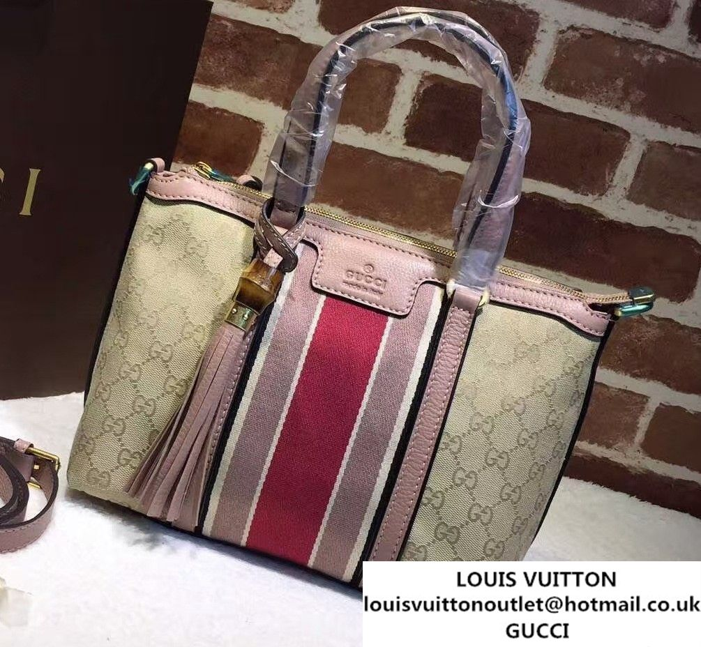 2fb5378070 Gucci Rania Original GG Canvas Top Handle Small Bag 353114 Nude Pink ...
